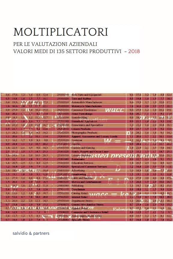 Moltiplicatori per le valutazioni aziendali - 2018