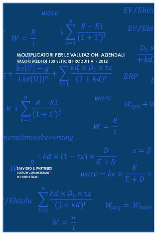 Moltiplicatori per le valutazioni aziendali - 2012