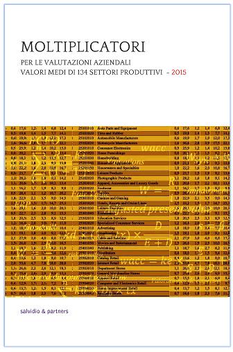 Moltiplicatori per le valutazioni aziendali - 2015