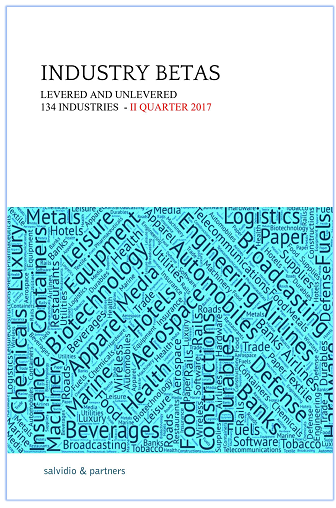 Industry Betas - 2017 II Quarter