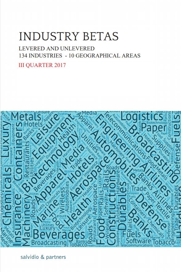 Industry Betas - I Quarter 2018